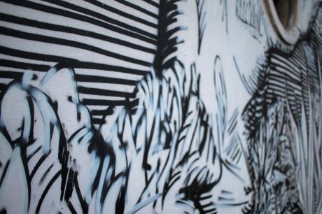 Mural on Facade of Batumi Art School by Kamil Zuzko